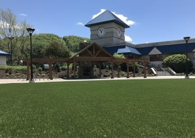 Commercial artificial turf installation